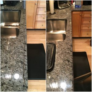 Cracked Granite Countertop