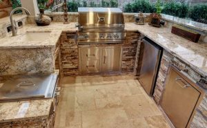 Outdoor Granite Kitchen!